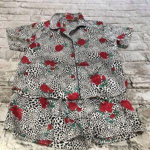 Sophia by Delicates 2 piece Shortie Pajama Sz Med